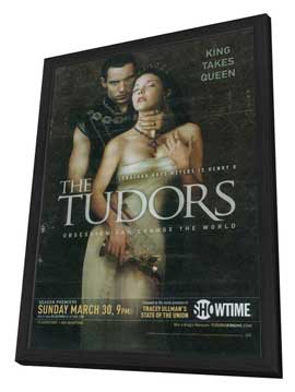 The Tudors - 27 x 40 TV Poster - Style B - in Deluxe Wood Frame