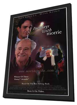 Tuesdays With Morrie - 27 x 40 Movie Poster - Style A - in Deluxe Wood Frame