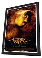 Tupac: Resurrection - 11 x 17 Movie Poster - Style A - in Deluxe Wood Frame