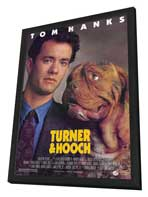 Turner and Hooch - 27 x 40 Movie Poster - Style A - in Deluxe Wood Frame