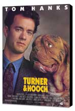 Turner and Hooch - 27 x 40 Movie Poster - Style A - Museum Wrapped Canvas