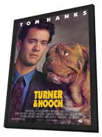Turner and Hooch - 11 x 17 Movie Poster - Style A - in Deluxe Wood Frame