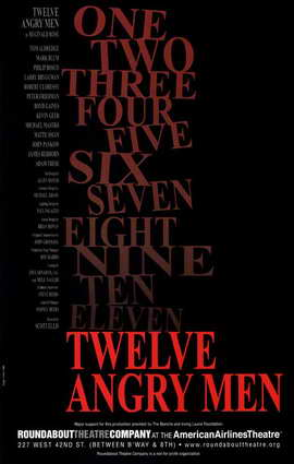 Twelve Angry Men (Broadway) - 11 x 17 Poster - Style A