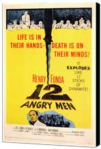 Twelve Angry Men - 11 x 17 Movie Poster - Style A - Museum Wrapped Canvas