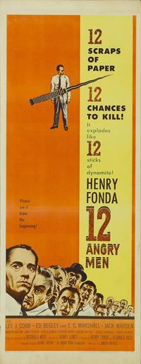Twelve Angry Men - 14 x 36 Movie Poster - Insert Style A
