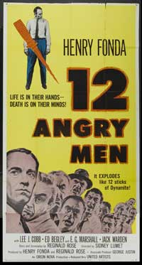 Twelve Angry Men - 41 x 81 3 Sheet Movie Poster - Style A