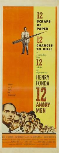 Twelve Angry Men - 14 x 36 Movie Poster - Insert Style E