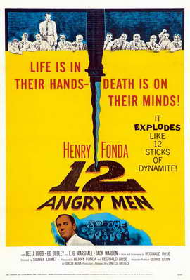 Twelve Angry Men - 11 x 17 Movie Poster - Style E