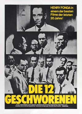 Twelve Angry Men - 27 x 40 Movie Poster - German Style B