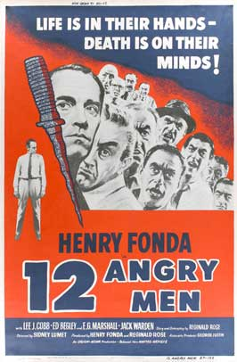 Twelve Angry Men - 27 x 40 Movie Poster - Style D