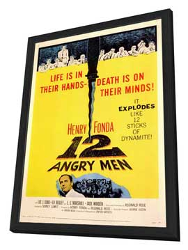Twelve Angry Men - 11 x 17 Movie Poster - Style A - in Deluxe Wood Frame