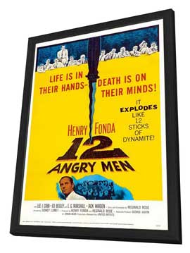 Twelve Angry Men - 27 x 40 Movie Poster - Style D - in Deluxe Wood Frame