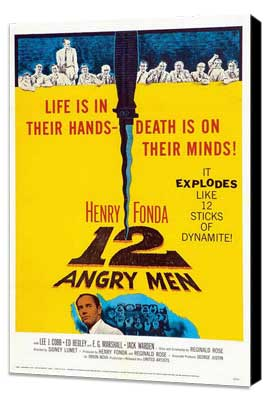 Twelve Angry Men - 11 x 17 Movie Poster - Style E - Museum Wrapped Canvas