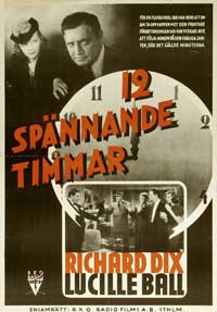 Twelve Crowded Hours - 27 x 40 Movie Poster - Swedish Style A