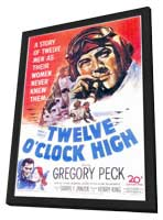 Twelve o'Clock High - 11 x 17 Movie Poster - Style A - in Deluxe Wood Frame