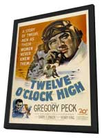 Twelve o'Clock High - 27 x 40 Movie Poster - Style B - in Deluxe Wood Frame