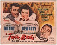 Twin Beds - 22 x 28 Movie Poster - Half Sheet Style A