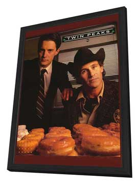 Twin Peaks - 27 x 40 TV Poster - Style A - in Deluxe Wood Frame