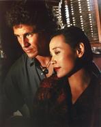 Twin Peaks - Twin Peaks Movie Scene with Joan Chen and Michael Ontkean Portrait