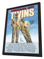 Twins - 11 x 17 Movie Poster - Style B - in Deluxe Wood Frame