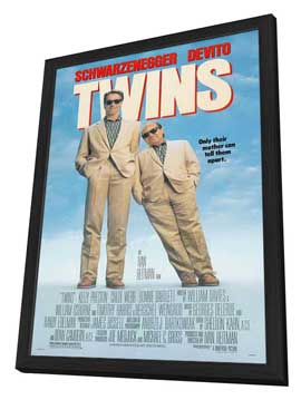 Twins - 27 x 40 Movie Poster - Style B - in Deluxe Wood Frame