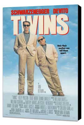 Twins - 27 x 40 Movie Poster - Style B - Museum Wrapped Canvas