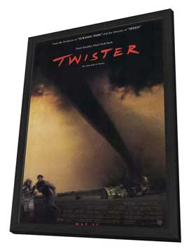 Twister - 11 x 17 Movie Poster - Style A - in Deluxe Wood Frame