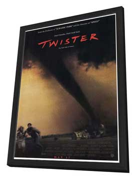Twister - 27 x 40 Movie Poster - Style A - in Deluxe Wood Frame