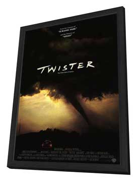 Twister - 27 x 40 Movie Poster - Style B - in Deluxe Wood Frame