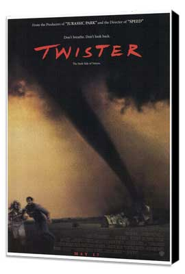 Twister - 27 x 40 Movie Poster - Style A - Museum Wrapped Canvas