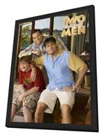 Two and a Half Men - 11 x 17 TV Poster - Style H - in Deluxe Wood Frame