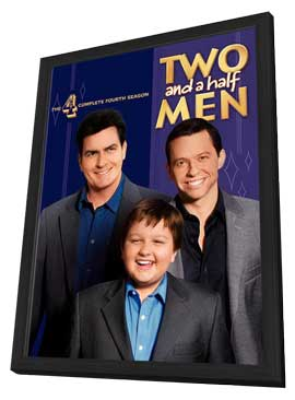 Two and a Half Men - 11 x 17 Movie Poster - Style A - in Deluxe Wood Frame
