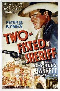 Two Fisted Sheriff - 11 x 17 Movie Poster - Style A