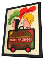 Two for the Road - 11 x 17 Movie Poster - Polish Style A - in Deluxe Wood Frame