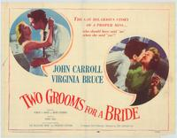 Two Grooms for a Bride - 22 x 28 Movie Poster - Half Sheet Style A