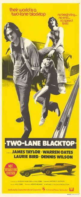 Two Lane Blacktop - 11 x 17 Movie Poster - Style B