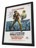 Two Mules for Sister Sarah - 27 x 40 Movie Poster - Style A - in Deluxe Wood Frame