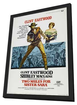 Two Mules for Sister Sarah - 11 x 17 Movie Poster - Style A - in Deluxe Wood Frame