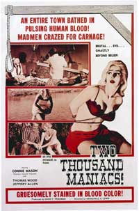 Two Thousand Maniacs! - 27 x 40 Movie Poster - Style A