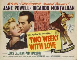Two Weeks with Love - 11 x 14 Movie Poster - Style B