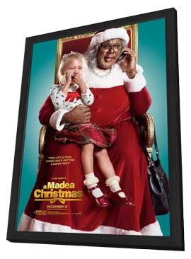 Tyler Perry's A Madea Christmas - 27 x 40 Movie Poster - Style D - in Deluxe Wood Frame