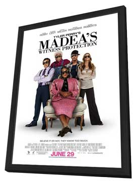 Tyler Perry's Madea's Witness Protection - 11 x 17 Movie Poster - Style B - in Deluxe Wood Frame