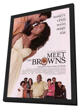 Tyler Perry's Meet The Browns - 27 x 40 Movie Poster - Style C - in Deluxe Wood Frame