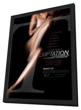 Tyler Perry's Temptation - 27 x 40 Movie Poster - Style A - in Deluxe Wood Frame