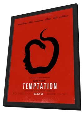 Tyler Perry's Temptation - 27 x 40 Movie Poster - Style B - in Deluxe Wood Frame