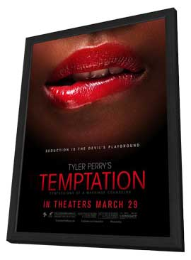 Tyler Perry's Temptation - 27 x 40 Movie Poster - Style C - in Deluxe Wood Frame