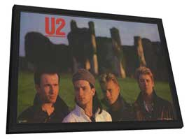 U2 - 11 x 17 Music Poster - Style A - in Deluxe Wood Frame