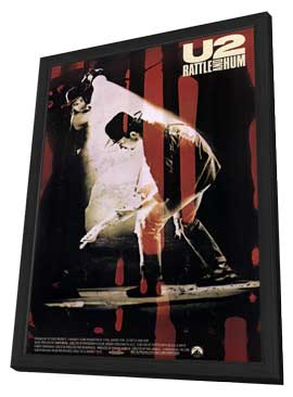 U2: Rattle and Hum - 11 x 17 Movie Poster - Style A - in Deluxe Wood Frame