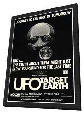 UFO Target Earth - 27 x 40 Movie Poster - Style A - in Deluxe Wood Frame