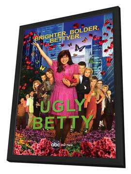 Ugly Betty - 11 x 17 TV Poster - Style C - in Deluxe Wood Frame